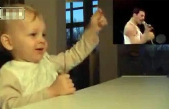 【萌え注意】フレディマーキュリーが好き過ぎる赤ちゃんw