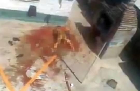 【グロ動画】犬に襲われて血の海で助けを呼ぶ女性・・・