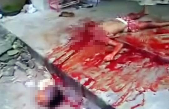 【グロ動画:殺人】父親が妻と子供の首を切り落として自殺・・・一家無理心中映像