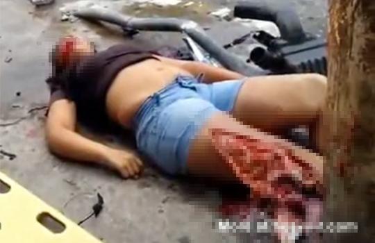 【グロ:事故】3人の若い女性を轢き殺した悲惨な事故映像