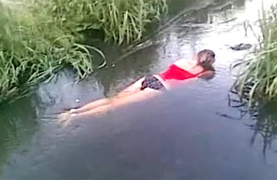 【閲覧注意】美人で若い女性の水死体が水に浮いてる件