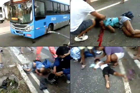 【グロ動画】スクールバスが子供たちをひき殺す・・・