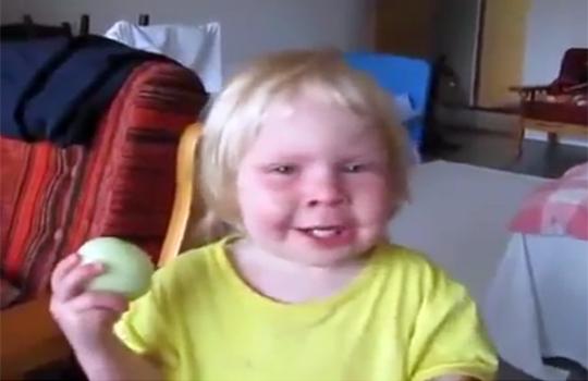 【おもしろ】たまねぎを丸齧りする子供が可愛い過ぎるw