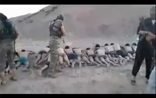 【閲覧注意】シリア過激派組織ISISの兵士250人一斉射殺映像・・・