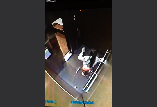【馬鹿女】泥酔した女性がエレベーターで放尿して暴れるキチガイ映像