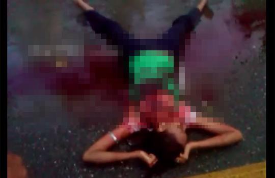 【殺人】道端に血塗れで倒れてる彼女・・・彼氏は住民にフルボッコなカオス状態・・・