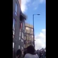 【ハプニング】火災で逃げ送れた少女が窓から飛び降り・・・ ※動画有り
