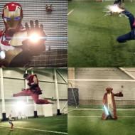【おもしろ】世界のヒーロー集めてサッカーやって見たwww ※動画有り