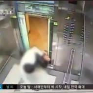 【危機一髪】韓国のエレベーターが言う事を聞かない・・・後数センチで真っ二つ