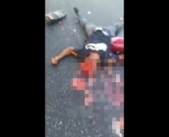 【グロ動画】バイク事故現場で一番酷いのがこれ・・・