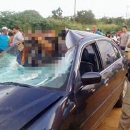 【グロ画像】飲酒運転の車に殺された夫婦・・・フロントガラスを突き破って死亡