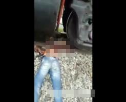 【グロ動画】電車に轢かれても下半身は無事でした・・・