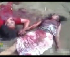 【グロ動画】首を切られたカップル・・・手を繋ぎながら彼女死亡・・・