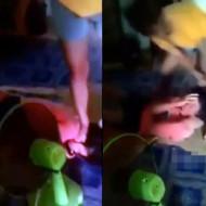 【いじめ動画】泣き叫ぶ少女を殴って蹴りまくるいじめワロえない・・・ ※閲覧注意
