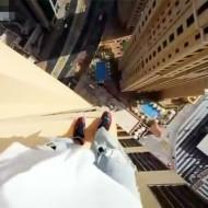 【衝撃映像】高層ビルの屋上でジャンプする超絶玉ひゅん動画www