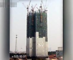 【衝撃映像】マジか・・・中国で高層ビルがたった19日間で建つ・・・
