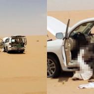 【閲覧注意】砂漠でガソリンと水が切れた人間の末路・・・