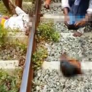 【グロ動画】線路に首を置いて寝る斬新な自殺方法ww