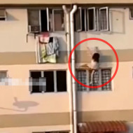 【死亡事故】貧困層の少女・・・窓にぶら下がり力尽きて落下・・・