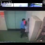 【本物レ○プ】監視カメラに映ったレ○プ未遂事件の一部始終