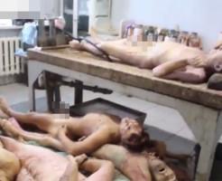 【戦争グロ】ウクライナの死体安置所が世紀末すぎる・・・動画有り