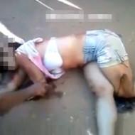 【閲覧注意】車に轢かれ虫の息の少女が死んでいく一部始終