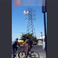 【自殺映像】鉄塔から飛び降り自殺と思わせてか~ら~の~感電自殺・・・