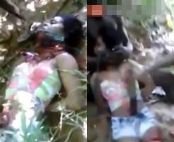 【殺人映像】麻薬売人の彼女を拉致・・・腹を刺して首を斬り殺す・・・