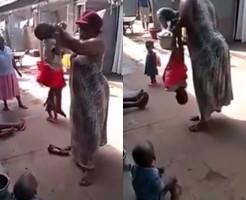 【胸糞注意】アフリカの幼女へのしつけが完全に児童虐待な件・・・