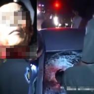 【閲覧注意】交通事故の後を撮影・・・死体の首が吹き飛んでる・・・