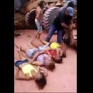【閲覧注意】5人の女の子が大型トラックに押し潰された結果・・・※動画あり