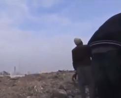 【衝撃映像】至近距離に砲弾が着弾した結果・・・