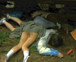 【エログロ】JKがパンツ丸出しで死んでたら興奮するよな・・・w