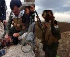 【イスラム】イラク兵『捕えたISIS兵の首を肉包丁で斬ってみたwww』