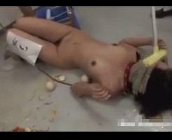 【本物いじめ】これは自殺するわ・・・流出した女子高生の全裸いじめがただの拷問