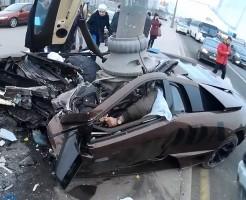 【高級棺桶】ランボルギーニで事故ったら高級な棺桶になった件 ※閲覧注意