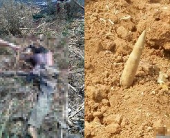 【閲覧注意】ガスパイプライン敷設中に不発弾爆発した不運な人の死体・・・ ※グロ画像