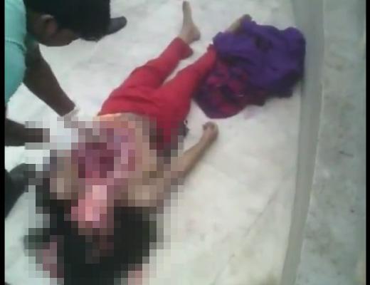 【グロ動画】女の子の死体が見つけたからって路上で脱がして解剖していくとか一理ないw ※閲覧注意