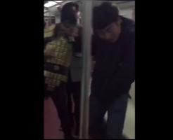 【閲覧注意】電車内で飲食DQN ハンマーで殴って止めさせた