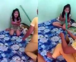 【虐待映像】女児をボッコボコに殴りつけるDQN母親・・・