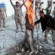 【グロ注意】敵兵を殺した後火をつけて晒し者にする意識高い系兵士