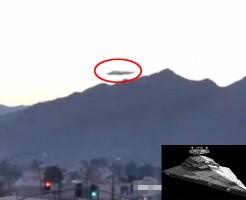 【UFO】カリフォルアに出現した大型UFOがスターウォーズの戦艦っぽいと話題にwww