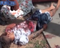 【グロ注意】殺されて数時間以内の鮮血溢れる痛々しい男の子の死体・・・ ※閲覧注意