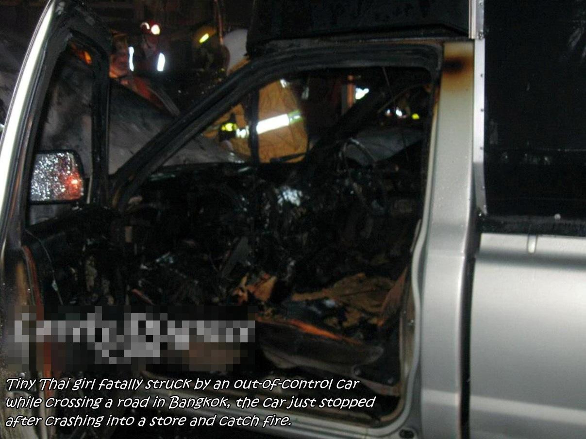 【ロリ死体】太ももムチムチのJCさんが車に撥ねられて死亡した現場写真がヤバ過ぎる・・・ ※グロ画像