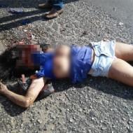 【閲覧注意】飲酒運転のトラックに轢かれた親子、どっちがどっちか分からない状態で死亡