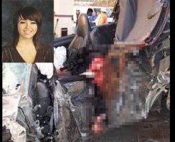 【グロ画像】ポルシェで160km出した女の子が車と一緒に頭もクラッシュした・・・ ※閲覧注意
