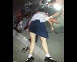 【JK 死体】ダンプカーに突っ込んでいった学校帰り女子校生の末路・・・ ※グロ画像
