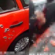 【閲覧注意】車に乗ってる状態で襲撃されて蜂の巣にされた中の状況が地獄絵図だった・・・・・・ ※グロ動画