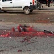 【※閲覧注意】トラックに飛び込んで自殺した男性、ミンチ肉になって無事死亡。(画像2枚)