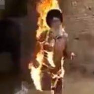 【閲覧注意】渋いおじいさんが甲高い声で走ってくると思ったら全身燃えてた・・・ ※動画